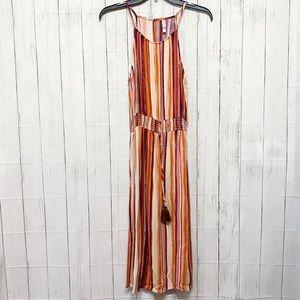 Xhilaration Striped Halter Midi Dress - S